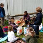 Atelier hôtel à insectes à Champittet